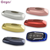 Wholesale Ford Mustang Car Cover - Auto car key cover case for Ford Mustang Fusion Explorer F150 F-150 Edge Taurus key shell remote cover car styling