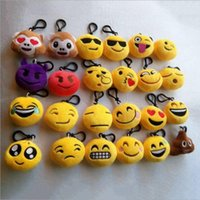 Wholesale Free Games 21 - New 21 style Emoji toys for Kids Emoji Keychains Mixed Emoji Keyrings Bag pendant 5.5*2.5cm Free shipping
