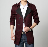 Wholesale Male Trench Coat Sale - 2017 Mens Trench coat cotton overcoat new big size plus hot sale fashion slim fit male outwear