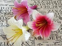 ingrosso fondali di fiori-Alta Quanlity Calla Lily Flower Head Giglio tigrato Fiore di seta Capelli e vestito Deco Wedding sfondo decorativo fiore artificiale