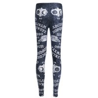 Wholesale Ouija White - NEW Arrival 3715 Sexy Girl Women Black Ouija Number and letter Yes NO 3D Prints Running Elastic GYM Fitness Sport Leggings Yoga Pants