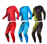 Wholesale Suit Motorcycle Jersey - free shipping Newest Motorcycle Racing Suit Motocross Off-Road MTB DH MX Racing profession gear Jerseys & Pants Protective Combinations