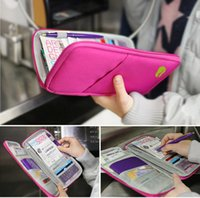 Wholesale Cash Passport Wallet - Fashion Travel Passport Credit ID Card Holder Cash Wallet Organizer Bag Purse Wallet