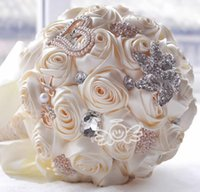 Wholesale Stocking Flower Chinese - Custom Any Color Stunning Wedding Flowers White Bridesmaid Bridal Bouquets Artificial Rose Wedding Bouquet In Stock