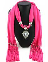 collares de bufanda para mujer al por mayor-Las mujeres más nuevas de la manera barata de la bufanda directa de la fábrica de la joyería borlas bufandas mujeres belleza cabeza collar bufandas de China