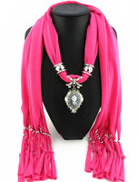 Wholesale Newest Cheap Fashion Women Scarf Direct Factory Jewelry Tassels Scarves Women Beauty Head Necklace Scarves From China