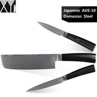 facas japonesas damasco venda por atacado-XYJ damasco facas de cozinha conjunto de 7 polegada faca cutelo japonês 5