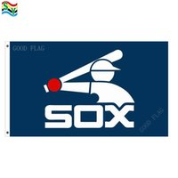 Wholesale White Sox Banner - GoodFlag Free Shipping chicago white sox throwback flag banner 3X5 FT 90*150CM Polyster Outdoor Flag