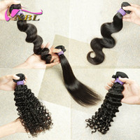 Wholesale Human Hair Style - XBL Different Hair Style Virgin Human Hair Weave Peruvian Human Hair Weave Within Top Lace Closure