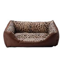 Wholesale Leopard Print Bedding Cheap - Cheap Wholesale 3 size Fashion Leopard print Pet Bed New Arrival Dog Kennels lovely Pet cat mat waterproof Dog House