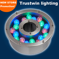 Wholesale Led Lighting 24v Blue - RGB green blue yellow 6W fountain light LED 24V 12V waterproof underwater light LED fountain light