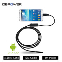 Wholesale Borescope 2m - DBPOWER USB 2MP Mobile Endoscope Android 8.5MM Lens 2M 5M Snake Camera Waterproof Inspection Borescope for Laptop with OTG  UVC