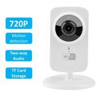 Wholesale Home Cctv System Monitor - Mini IP Camera Wi-Fi 720P HD P2P Smart CCTV Camera Fashion Baby Monitor Home Security System Video Recorder IP kamera V380 S1