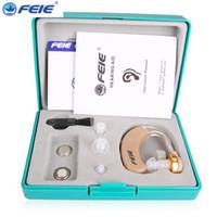 Wholesale Cheap Ear Aids - Feie Cheap Analog Ear Hearing aid S-520 for Hearing Loss Person with Three Ear Plug Free Shipping