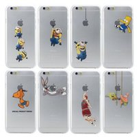 Wholesale Silicon Doll For Mans - Silicon Cover Despicable Me Yellow Minion Case For iPhone 5 5s 6 6s 6g plus 6plus 5.5 Minions Yellow Man Doll Cases
