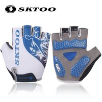 Wholesale Gloves Bycicle - SKTOO summer mtb bicycle cycling gloves half finger bike gloves for men women glove bycicle accessories