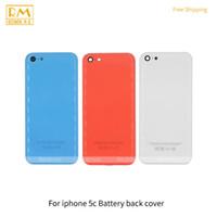 57c745d8472 1 unids para iphone 5c tapa de la puerta de la batería carcasa trasera  blanco azul naranja reemplazo de color completo de la contraportada trasera  caja ...