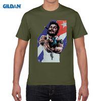 Wholesale Anti Che - CHE GUEVARA GANG gun T-shirt cotton Lycra top 7511 Fashion Brand t shirt men new high quality