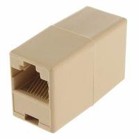 cable conector hembra rj45 al por mayor-8P8C RJ45 hembra a RJ45 hembra para CAT5 Cable de red Conector Adaptador Extender Plug Coupler Joiner Acopladores