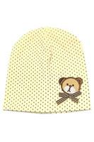 Wholesale Yellow Bear Costume - Wholesale-FS Hot Baby Girls Boys Winter Cap Dot Bear Cotton Blended Hat (yellow)
