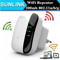 Wholesale Wifi Booster Wholesale - Wireless N Wifi Repeater 802.11N B G Network Router Range 300Mbps Signal Antennas Booster Extend wifi Extend Amplifier EU US AU UK Plug