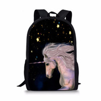Wholesale girl notebooks - FORUDESIGNS Mysterious Unicorn Schoolbag for Boy and Girl Primary School Backpack Fashion Notebook Bag Satchel Child Soft Strap