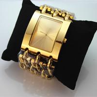 Wholesale Dropshipping Clock - Free Shipping Leopard Dial Famous Brand Fashion Women's Watch Clock Diamond Wristwatch Lady quartz watches Dropshipping