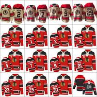 Wholesale Hockey Sawyer - Men's Old Time Hockey Chicago Blackhawks 2 Keith 3 Magnuson 4 Orr 7 Seabrook 9 Hull 18 Savard 29 Bickell Authentic White Sawyer Hooded