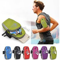 Wholesale Arm Wallets - 5.7 Universal Running Riding Nylon Arm Band Case for iphone X 8 7 6 6S Plus 5 5s se for Samsung Galaxy S6 S7 Edge s8 note8 xiaomi Sport Bag