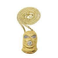 ingrosso rubare la catena-Mens hip hop gioielli nuovi ciondoli cappuccio anti-terrorismo stile europeo e americano catena hiphop accessori collane
