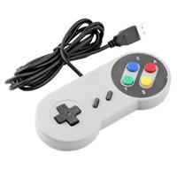 contrôleur de manette de snes achat en gros de-Contrôleur USB classique Contrôleurs Gamepad Joypad Joystick de remplacement pour Super Nintendo SF pour Tablet PC NES SNES LaWindows MAC