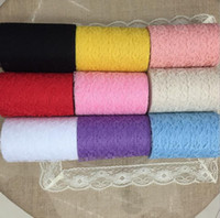 """Wholesale Table Runner Material - Width 6""""X 10 Yard DIY Lace Material Multi Colors Table Runner  Vantage Knit Tulle Hessian Lace Fabric"""