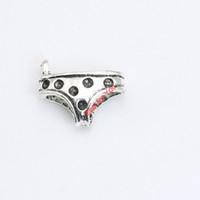 Wholesale Underwear Pendant - Antique Silver Plated Underwear Charms Pendant Bracelet Necklace Jewelry Making DIY Handmade 15x19mm