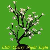 Wholesale Blossom Night Light - Wholesale- Luminarias LED crystal cherry blossom tree Lamp led bulbs night lights table lamp for home wedding decoration indoor lighting