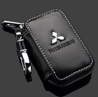 ingrosso chiavi remote di mitsubishi-Promozione Mitsubishi Key Case Premium in pelle Catene auto supporto cerniera portafoglio portafoglio remoto per Mitsubishi Key Bag non può inviare a Illinois Chic