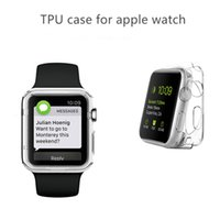 Wholesale Opp Bag For Watch - For Apple Watch Case Ultra Thin Slim Crystal Clear Transparent TPU Cover Case For 38mm 42mm Opp bag package