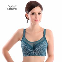 Wholesale Sexy Full Back Underwear - Fashion 5 color full cup large size bra floral women push up lace sexy underwear bras Free shiping
