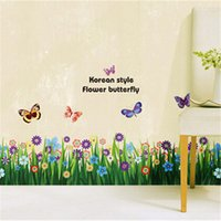 Wholesale Ceramic Tiles For Bathroom Walls - Landscape Country Plant Wall Stickers PVC Material Removable Decorative Plane Wall Ceramic Tile Stickers for Home Office Cafe