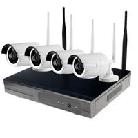 hd водонепроницаемая система безопасности оптовых-4-канальный HD беспроводной NVR комплекты водонепроницаемый 720p беспроводной IP-балет камеры поддержка P2P подключи и играть видеонаблюдения камеры системы безопасности от Hdcctvsystem