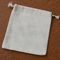 "Wholesale Burlap Sacks - Linen Gift Bags 13x17cm (5""x6.5"") Wedding Favor holders Jute Sack Gunny Burlap Pouches Jewelry Gift Bags"