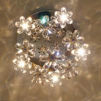 lampe à bille achat en gros de-Plafonnier rond moderne à LED plafonnier intérieur luxueux lustres en cristal lampes à boule de fil luminaires 7/1315/19/27 lumières