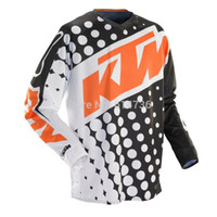 Wholesale Dirt Motocross Motorcycle - Free shipping 2015 360 KTM Motocross Jersey MTB ATV MX DH Men Motorcycle Dirt Bike Cycling Jersey Quick dry 100% polyester M-XXL