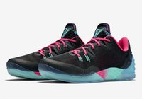 Wholesale Turquoise Mens Shoes - 2016 new arrival Venomenon 5 Hyper Turquoise kb Mens Basketball Shoes Cheap KB5 Sneakers Sport Boots for men black pink blue US 7-12