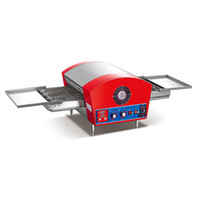 Single 220 7800 Electric Conveyor Pizza Oven Easy Clean Removable Chain Stainless Steel