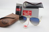 Wholesale Glasses Aviator Box - Luxury brand aviator RAY sunglasses designer men and women high quality 58mm6mm glass lenses retro fashion BANS BENS Csunglasses and boxes