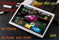 Wholesale 3g Chips - 10.6 inch tablet, MTK8382 chip, Octa core processors, IPS screen, 4G RAM + 64GB ROM storage,3G Phone, dual SIM card, call 64GB memory card