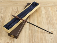 Wholesale Wooden Magic Top - Hot selling newset magic wand Collectable Top Quality Harry Potter Series Magic Wand With Gift Box Cosplay Game Prop Metal Core Toy Stick