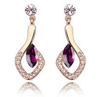 Wholesale Crystal Chandelier For Sale - Hot Sale Austrian Crystal Earrings Made with Swarovski Elements Crystal Drop Earrings For Women 18K Rose Gold Plated 5746
