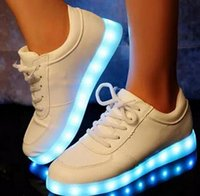 online Shopping Led Luminous Shoes - fashion 35-42 Colorful Gowing Shoes with Lights Up Led Luminous Shoes A New Simulation Sole Led Shoes for Adults Neon Basket Led