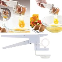 Wholesale hand beaters kitchen - 2016 hot sale egg tools Plastic Handheld ez Cracker Egg Cracker with Separator Egg beaters Kitchen Tools